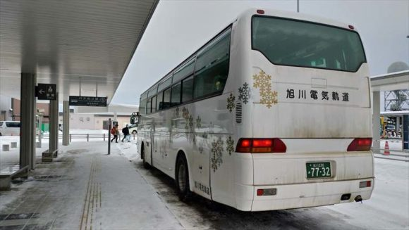 旭川空港バス乗り場
