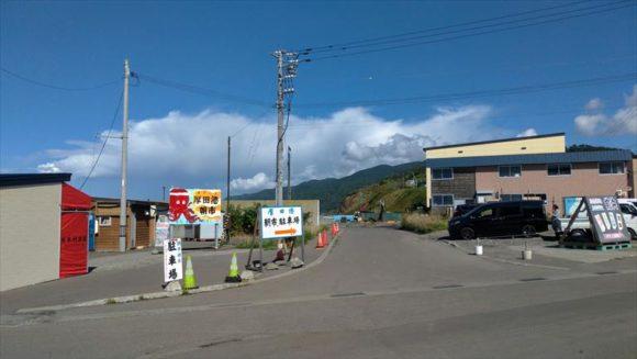 厚田漁港朝市(石狩)の駐車場