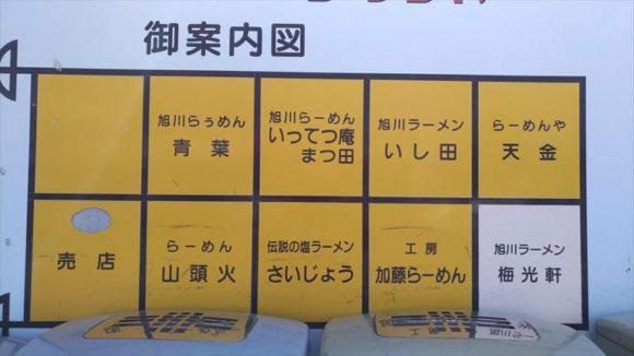 あさひかわラーメン村の店舗