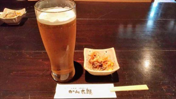 三代目かん太郎のビール
