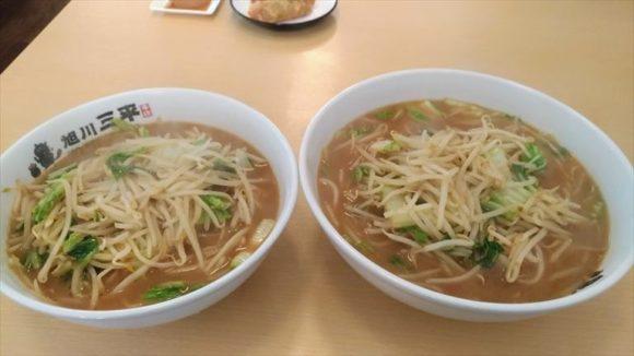 旭川三平本店のラーメン&ミニラーメン