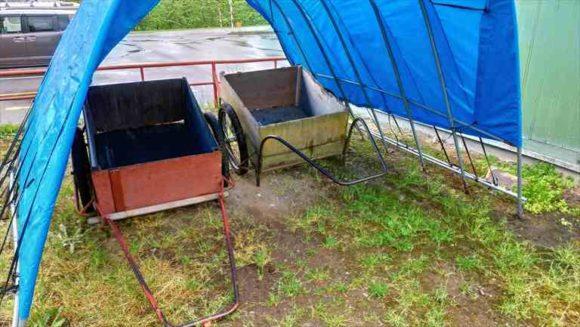 山部自然公園太陽の里キャンプ場(富良野市)のリヤカー