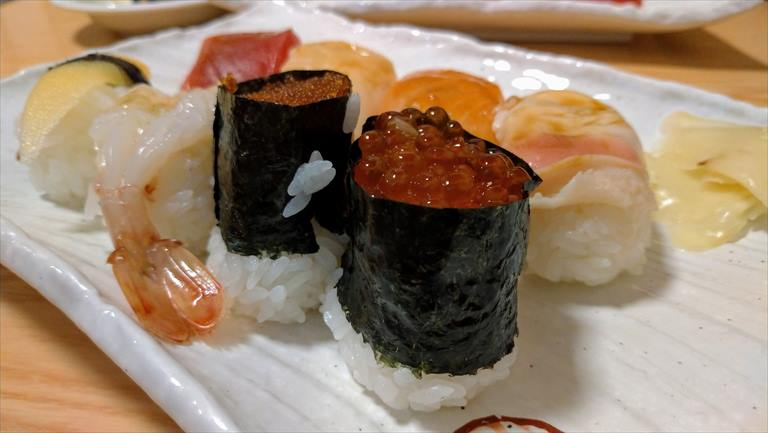 富良野福寿司のジャンボ握り