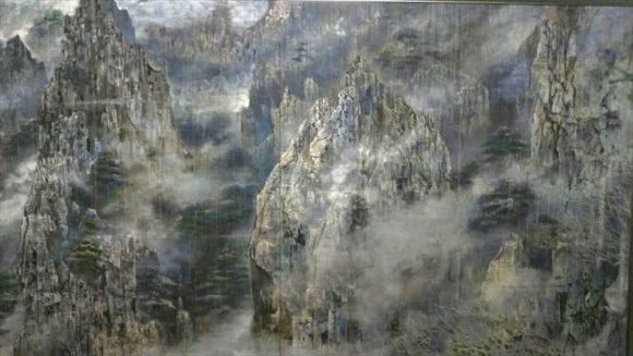 後藤純男美術館の『雲海黄山雨晴』