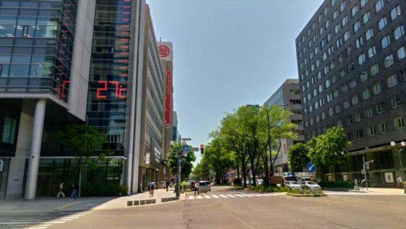 大通公園3丁目の温度計