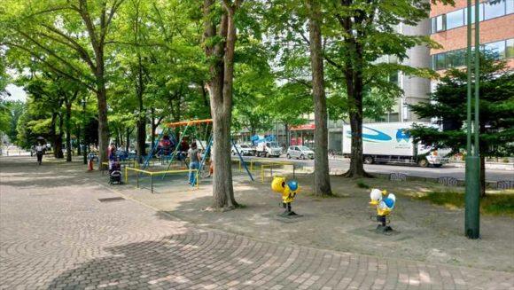 大通公園8-9丁目の子供用遊具