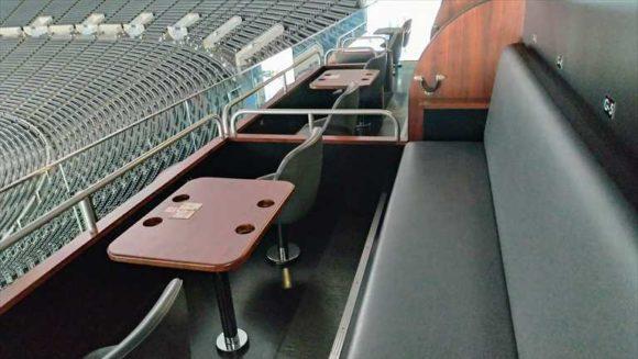 札幌ドームのスカイボックスシート