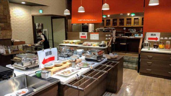 プレミアホテル-CABIN-札幌(すすきの)の朝食ブッフェ