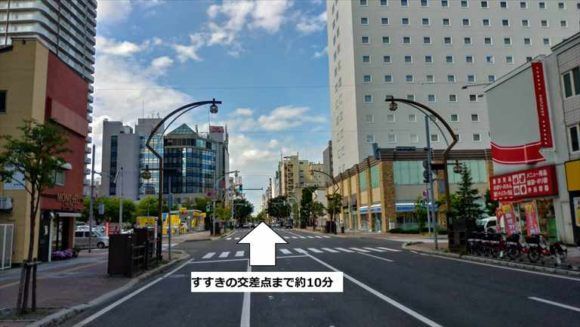 ベッセルイン札幌中島公園から見た風景