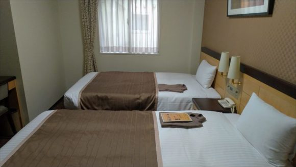 法華クラブ札幌の客室(ツインルーム)