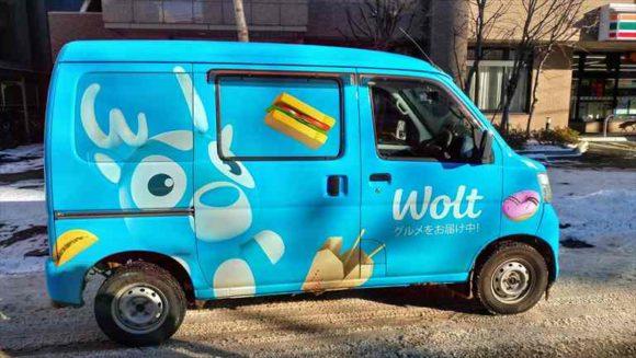 Wolt札幌のデリバリーカー
