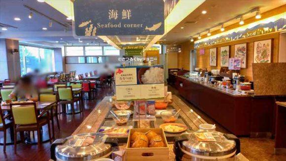 ベッセルイン札幌中島公園の朝食ブッフェ