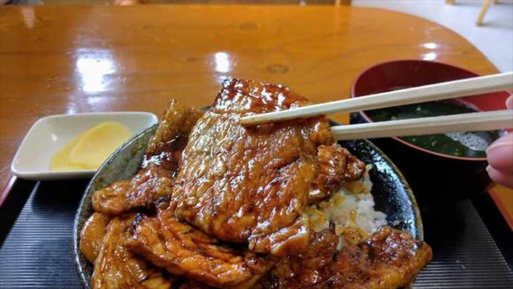 「豚丼のかしわ」豚丼(中)