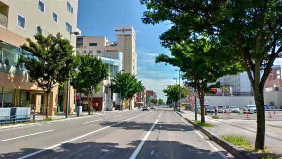 JR帯広駅からみたふく井ホテル