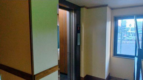 ふく井ホテルのエレベーター