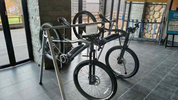 しこつ湖鶴雅リゾートスパ水の謌のレンタル自転車