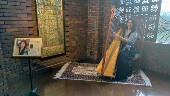 しこつ湖鶴雅リゾートスパ水の謌のハープ演奏会