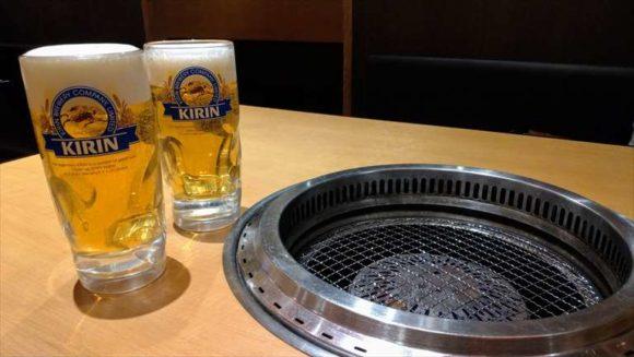 焼肉きんぐの生ビール