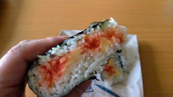 「ありんこ」おにぎりおすすめ⑧めんたいこ(250円)+チーズ