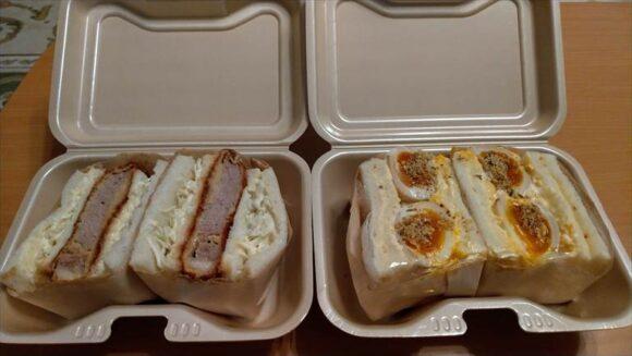 蕎麦とワイン関のサンドイッチ