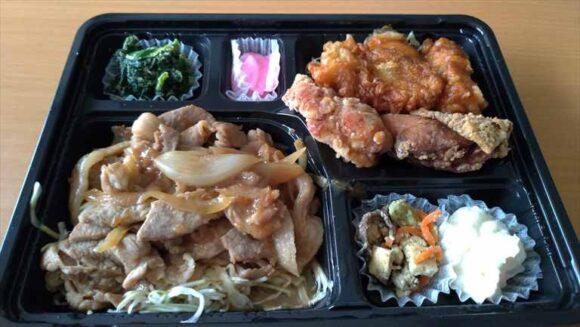 ザンギ3種と豚の生姜焼き弁当