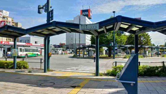JR帯広駅のバスターミナル