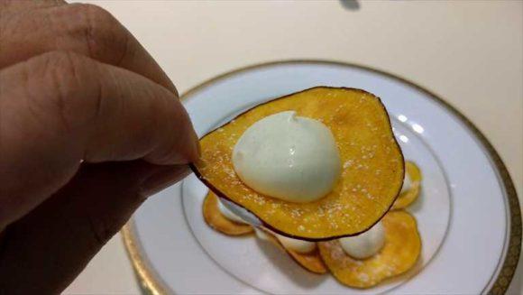 六花亭本店限定メニュー「チーズ&チップス」