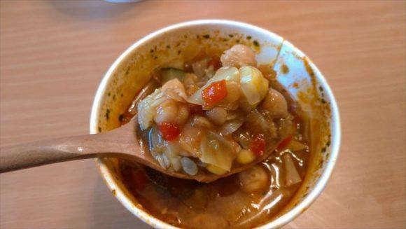 スープストック(Soup Stock Tokyo)札幌おすすめ④とうもろこしとパプリカのチリビーンズスープ