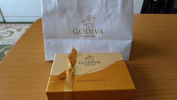 フードデリバリーサービスで注文したゴディバのチョコレート