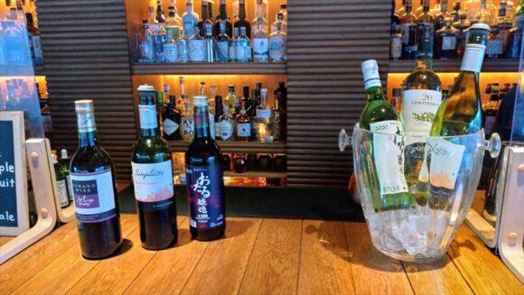 アンワインドホテル札幌バーのワイン無料サービス