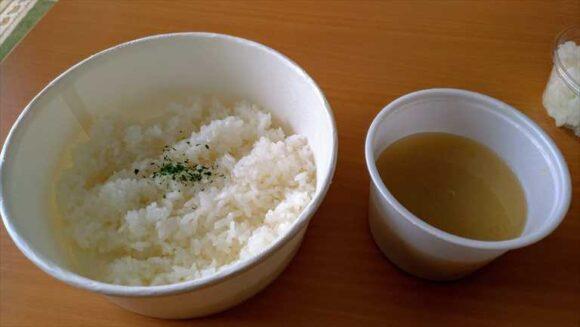 山本のハンバーグのご飯とみそ汁