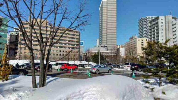札幌パークホテルの駐車場