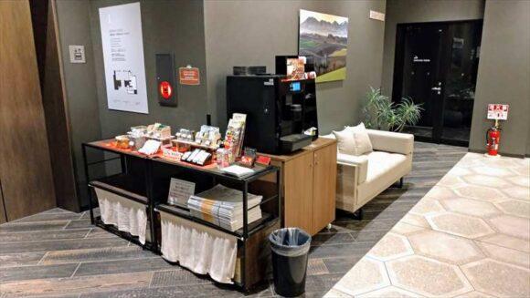 「ホテルウィングインターナショナル札幌すすきの」の24時間利用可能なコーヒーサービス