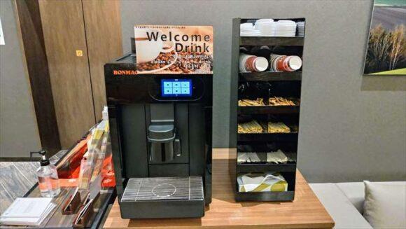 「ホテルウィングインターナショナル札幌すすきの」のコーヒーサービス