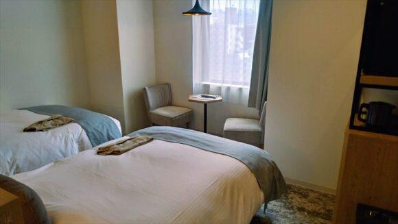 「ホテルウィングインターナショナル札幌すすきの」の客室レビュー(スーペリアツインルーム)