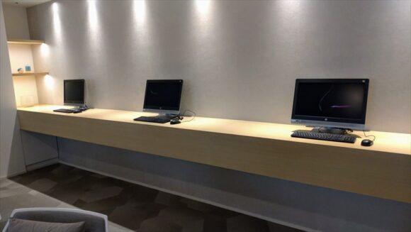 テンザホテル&スカイスパ・札幌セントラル1階のパソコン