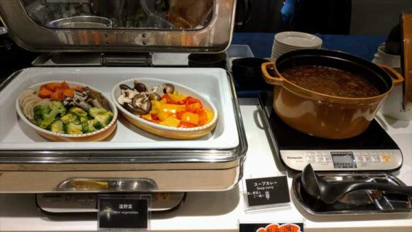 テンザホテル&スカイスパ・札幌セントラルの朝食ブッフェバイキング