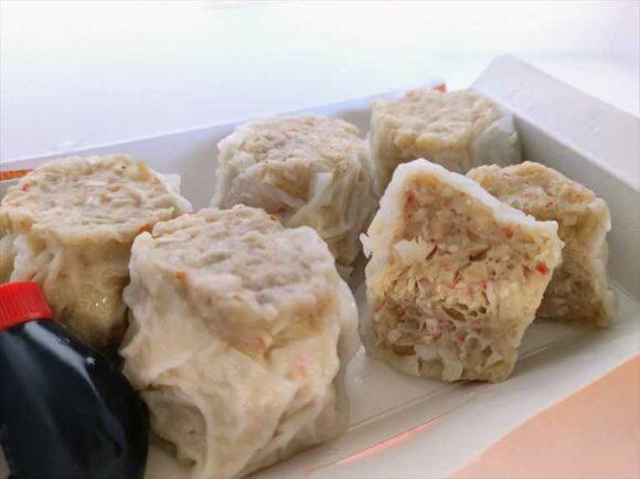 フードパンダで注文した「茶寮」のカニシュウマイ