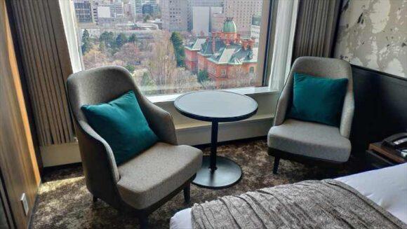 ソラリア西鉄ホテル札幌の道庁側客室眺望