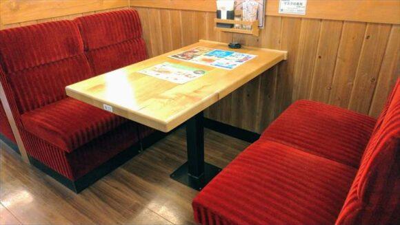 コメダ珈琲の座り心地の良い椅子