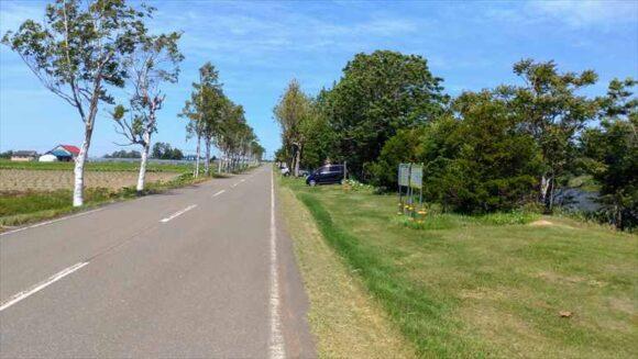 三重湖公園キャンプ場のフリーサイト(町道側)