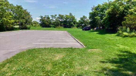三重湖公園キャンプ場のフリーサイト(第2駐車場側)