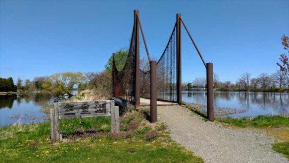 三重湖公園キャンプ場の橋