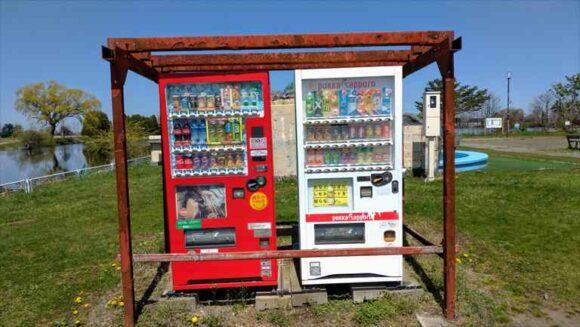 三重湖公園キャンプ場の自動販売機