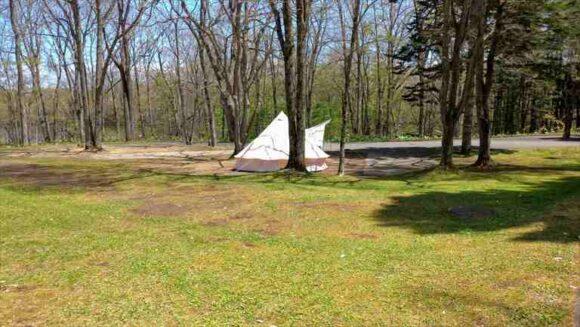 古山貯水池自然公園オートキャンプ場のフリーサイト