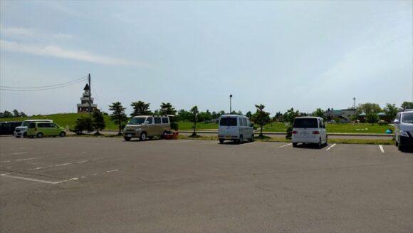 しのつ公園キャンプ場の第2駐車場