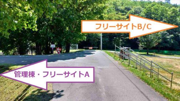 厚田キャンプ場のフリーサイト