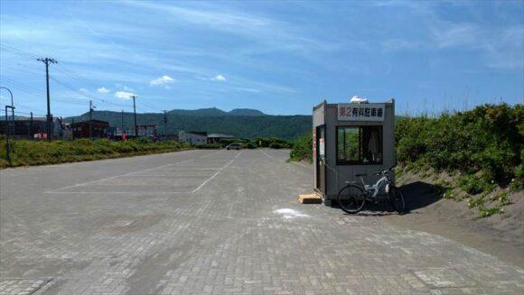 浜益川下海浜公園キャンプ場の第2駐車場