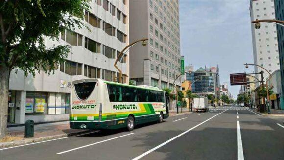 エアポートライナーバスバス停「中島公園」