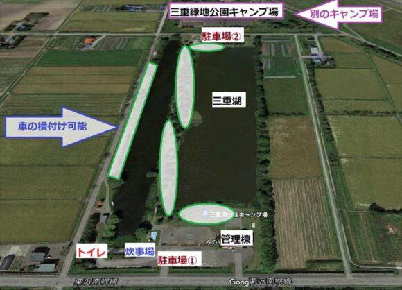 三重湖公園キャンプ場の地図マップ